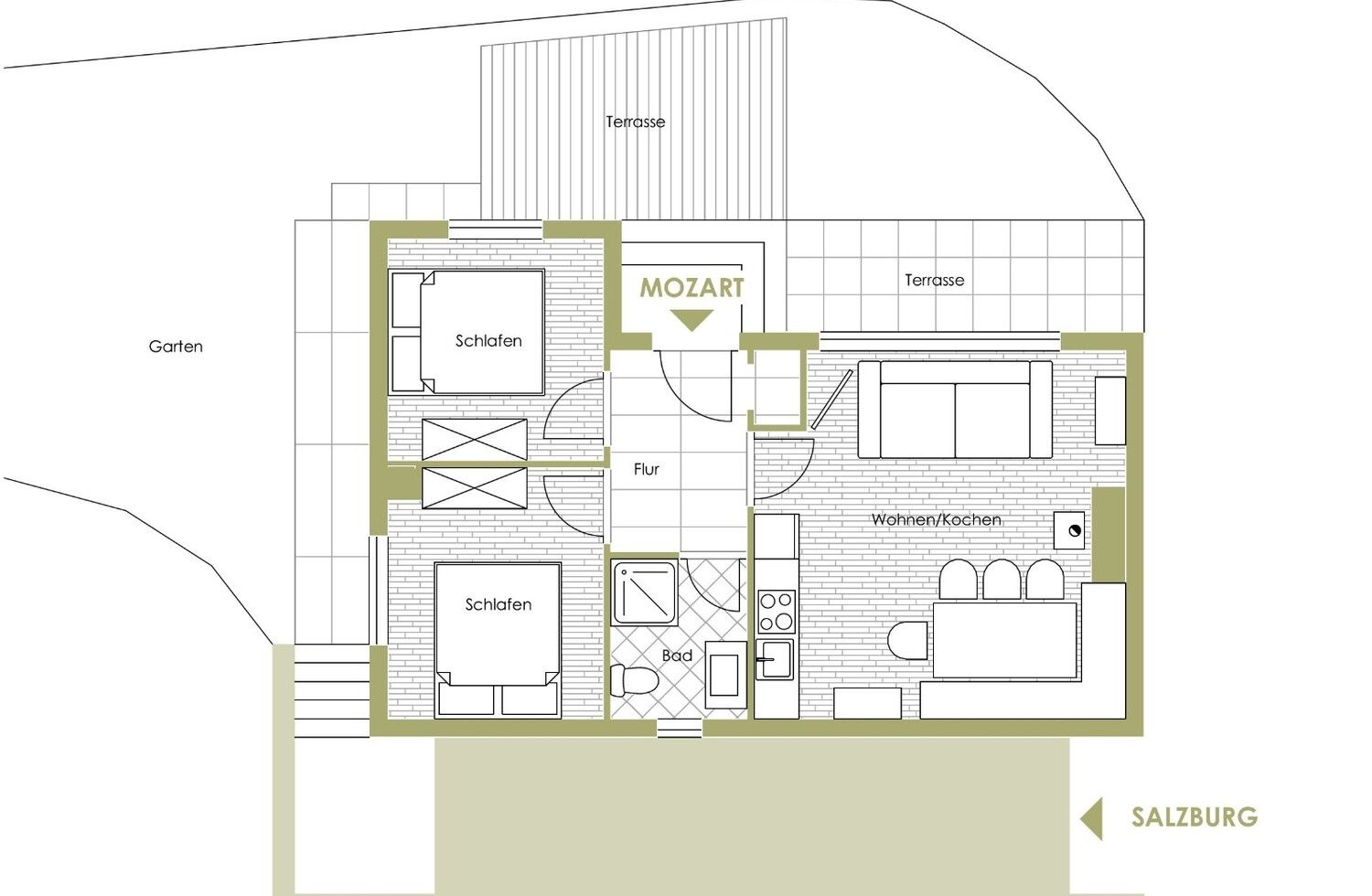 Alpin Chalet MOZART in Wagrain room plan